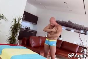 Blowjob from gay masseur