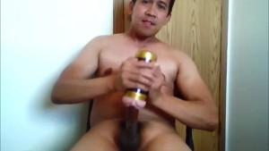 asian guy jacking off