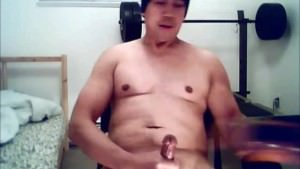asian guy jacking off