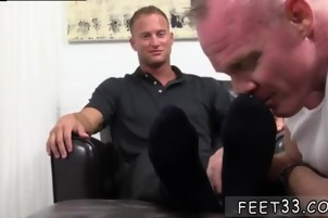 Beautiful male feet gay Dev Worships Jason James' Manly Feet